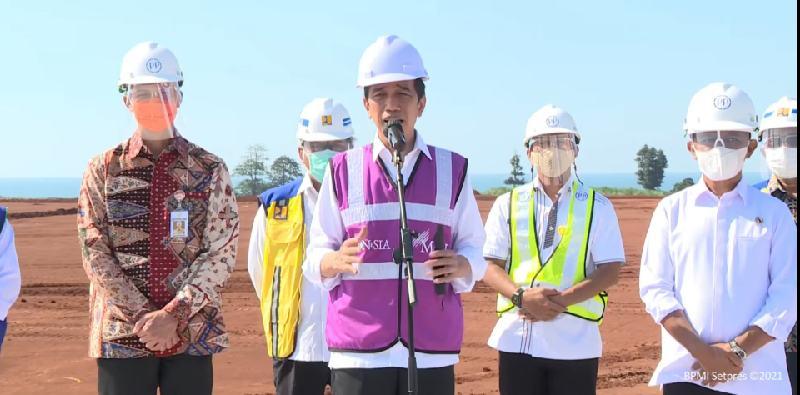 Di Tengah Isu Reshuffle, Bahlil Temani Jokowi Tinjau KIT Batang Yang Berpotensi Keruk Investasi Hingga Rp 41,8 Triliun