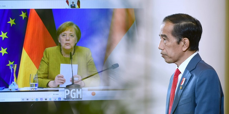 Bersama Angela Merkel, Jokowi Bahas Pasokan Vaksin Yang Tak Setara Hingga Isu Myanmar