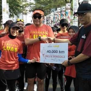 AGP Konversi Keringat Pelari Jadi Bantuan Korban Gempa Sulteng