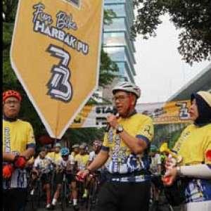 Sepeda Santai PUPR Peringati Hari Bakti PU Ke-73