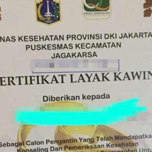 Di Jakarta, Mau Nikah Kudu Punya Sertifikat Layak Kawin