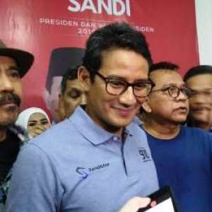 Sandiaga Imbau Relawan Istirahat Yang Cukup Agar Tidak Menjadi Korban Pemilu 2019