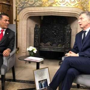 Diterima Presiden Argentina, Mentan Amran Tindak Lanjut Ekspor Buah
