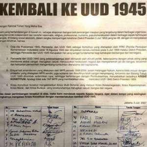 Beredar Kembali Dokumen Desakan Gus Dur Dan Tokoh Nasional Untuk Kembali Ke UUD 1945