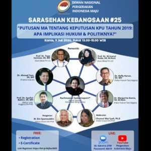 Din Syamsuddin Dkk Angkat Diksusi Dampak Hukum Dan Politik Terkait Putusan MA Soal Pilpres 2019