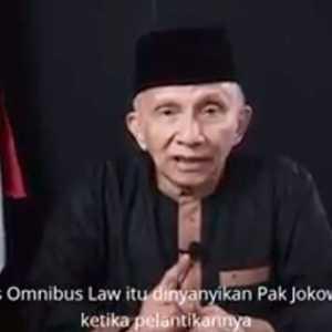 Amien Rais: Jangan Pernah Dilupakan, Pemrakarsa Omnibus Law Di Indonesia Adalah Jokowi