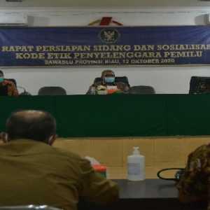 Gelar Rakor Bersama KPU Dan Bawaslu Riau, DKPP Harapkan Pilkada Yang Bermartabat