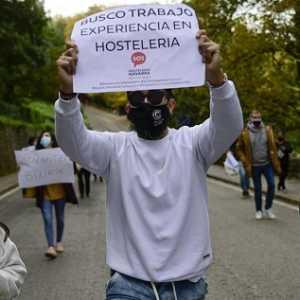 Terpukul Pandemi, Karyawan Perhotelan Spanyol Gelar Aksi Protes Minta Dana Bantuan Pemerintah