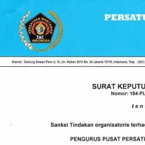 Dukung Paslon Pilkada, Ketua PWI Jambi Diberikan Sanksi Tegas