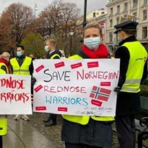 Pemerintah Enggan Suntik Dana Bantuan, Pegawai Norwegian Air Demo Di Depan Gedung Parlemen