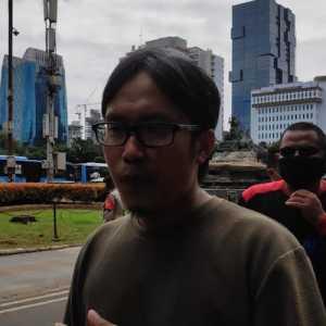 Massa KSPI Kecewa Ada Penghalangan Saat Mau Aksi Di MK