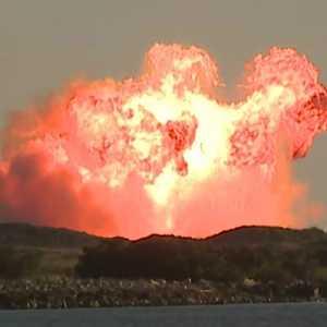 Prototipe Roket Starship Milik SpaceX Meledak Saat Uji Coba Di Texas