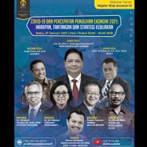 MWA UI Agendakan Webinar Percepatan Pemulihan Ekonomi, Airlangga Hartarto Didaulat Pembicara Kunci