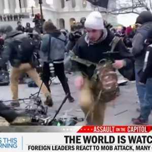 Perusuh Capitol Hill Melecehkan Jurnalis Dan Merusak Fasilitas Wartawan Selama Aksi
