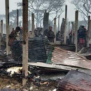 Penderitaan Anak-anak Pengungsi Rohingya, Empat Sekolah Yang Dibangun UNICEF Hangus Dilalap Api