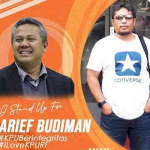 DKPP Pecat Arief Budiman, KPU Lampung Ramai-ramai Galang Aksi Solidaritas