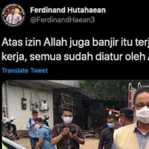 Kicauan Ferdinand Hutahaean Dinilai Bukan Lagi Mengkritik Anies, Tapi Sudah Menyinggung Prinsip Islam