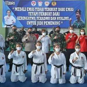 Tinjau Pelatnas Karate Di Bali, Marsekal Hadi Yakin Indonesia Lolos Olimpiade 2021