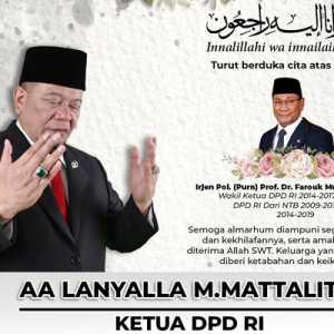Turut Berduka, LaNyalla: Prof. Farouk Pribadi Bersahaja Dan Berkontribusi Terhadap Pembangunan Daerah