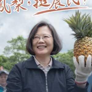 China Tangguhkan Impor, Tsai Ing-wen Ajak Penduduk Taiwan Ramai-ramai Makan Buah Nanas