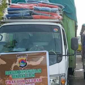 Kirim Bantuan Untuk Korban Bencana, Polda NTB: Kami Prihatin Kondisi Sulbar