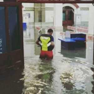 Stasiun Tawang Kembali Kebanjiran Setelah Diguyur Hujan Lebat