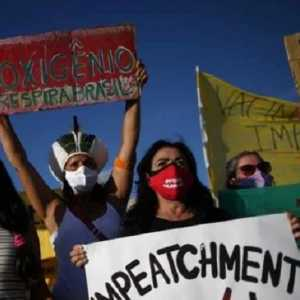 Penanganan Covid Kacau, Warga Brasil Gelar Protes Anti-Bolsonaro: Makzulkan Sekarang!