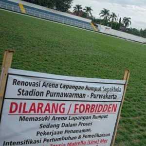 Renovasi Stadion Purnawarman Tuntas, Askab PSSI Purwakarta Apresiasi Komitmen Pemkab