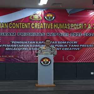 Jalankan 100 Hari Program Prioritas Jenderal Listyo Sigit, Humas Polri Gelar Pelatihan Konten Kreatif