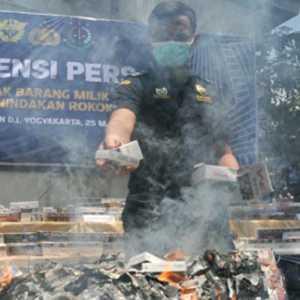 Bea Cukai Semarang Musnahkan Rokok Ilegal Senilai Rp 21,85 Miliar