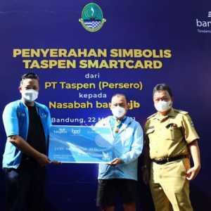 Permudah Akses Nasabah bjb, PT Taspen Serahkan Taspen Smartcard