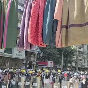 Hari Perempuan Internasional, Perempuan Myanmar Turun Ke Jalan Lawan Kudeta