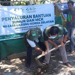 NU Care-Lazisnu Korea Selatan Bangun Sumur Untuk Pengungsi Gempa Sulawesi Barat