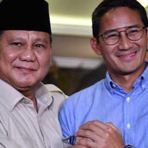 Survei Charta Politika: Sandiaga Uno Masuk Lima Besar, Prabowo Masih Tertinggi