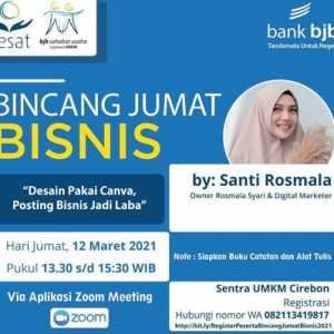 Bincang Bisnis bank bjb: Memanfaatkan Canva Untuk Promosi Bisnis