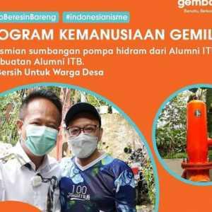 Bantu Warga Sumedang, Calon Ketua IA ITB Gembong Primadjaja Sumbang Pompa Hidram