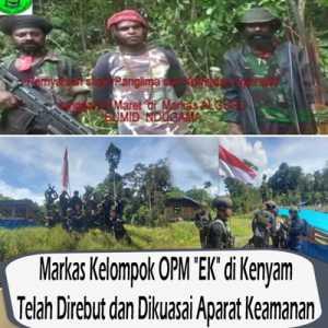 Hanya Gertak Sambal, Egianus Kogoya Makin Terdesak Paska Markas OPM Berhasil Dikuasai TNI-Polri