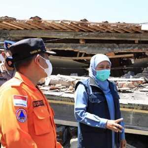 Dapat Bantuan Dari BNPB, Khofifah Minta Korban Terdampak Gempa Malang Divalidasi