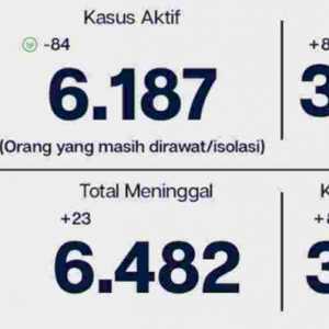 Pasien Covid-19 Jakarta Yang Sudah Sembuh Capai 381.449 Orang