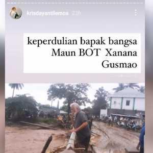 Prihatin Banjir Timor Leste, Krisdayanti Unggah Foto Xanana Gusmao Di Lokasi Banjir
