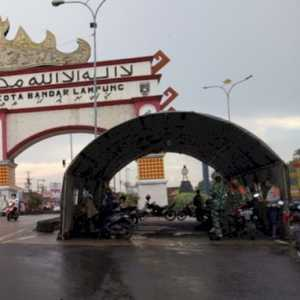 Begini Penampakan Posko Penyekatan Pendatang Di Pintu Masuk Kota Bandarlampung