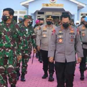 Panglima TNI Dan Kapolri Kunker Ke Natuna Meninjau Serbuan Vaksinasi