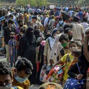 Rekor, India Catat Lebih Dari 200 Ribu Kasus Covid-19 Sehari