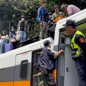 Taiwan Berduka, Kereta Api Tergelincir Di Terowongan Tewaskan Puluhan Penumpang