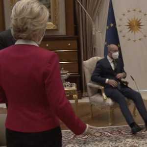 Bertemu Erdogan, Ursula von der Leyen Kebingungan Tidak Disediakan Kursi