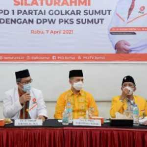 Sambangi Kantor PKS Sumut, DPD Golkar: Cuma Silaturahim, Tak Ada Muatan Politik